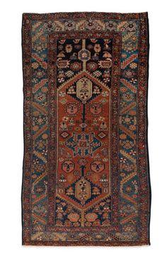 Original MOSSOUL-HAMADAN (Iran), vers 1930/40  Fond rouge brique à décor de…