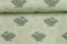 Our beautifulHeadlong Hare Grey Linen Union Fabric is now available by the metre. Printed in the UK on luxurious natural linen union Width 140cm. Pattern repeat 20cm. Weight 250gsm Washable with care at 30 degrees.