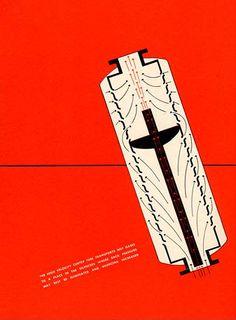 Kittell Silencers brochure by Alvin Lustig