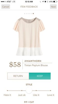 41Hawthorn Timian Peplum Blouse                              …