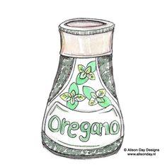 Food illustration - Oregano by Alison Day