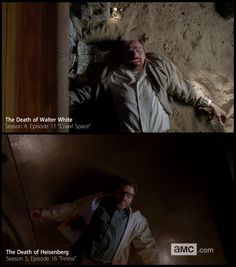 """Walt's death scene is a really excellent callback to """"Crawl Space"""" from Season 4. 