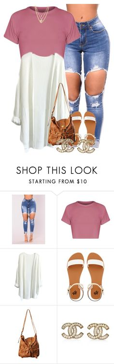 """"""""""" by muvaaliyah ❤ liked on Polyvore featuring BasicGrey, 2b bebe, Forever 21, Chanel and Ettika"""