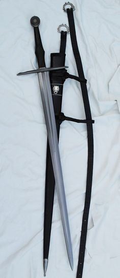 A sword with belt and scabbard