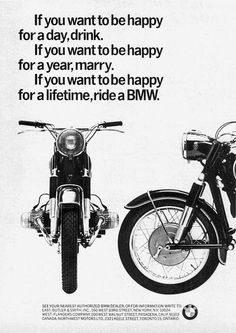 Vintage BMW Bike Ad