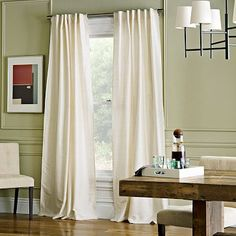 """Soho Silk Window Panel - Ivory #WestElm--This is a back tab ivory silk. Also available in 108"""" length."""