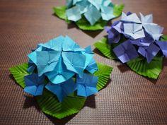【折り紙】あじさいの折り方【創作】How to make a hydrangea