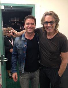 Legendary pop rocker, @rickspringfield and #MurdochMysteries star, #YannickBisson pose for a few pics at #CNE