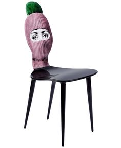 Fornasetti Hat And Face Printed Chair - L'eclaireur - Farfetch.com