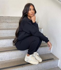 Baddie Outfits Casual, Dope Outfits, Cute Casual Outfits, Fashion Outfits, Comfy Fall Outfits, Chill Outfits, 2 Piece Outfits, Mode Inspiration, Streetwear Fashion