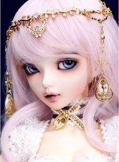 BJD 1/4 MiniFee Bjd Chloe doll fashion fairyland free eyes and eyelashes free face makeup