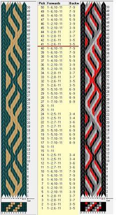11 tarjetas, 2/4 colores, repite cada 40 movimientos // sed_612 diseñado en GTT༺❁