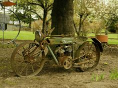 This old time motorcycle is a Windsor, and was sitting in front of a farm near North Plains