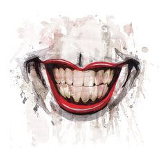 HeroChan — Joker Smile Created by Joel Gomez Lip Wallpaper, Funny Iphone Wallpaper, Cute Wallpaper Backgrounds, Smile Drawing, Mouth Drawing, Joker Mouth Tattoo, Hahaha Joker, Decoration Plante, Joker Art