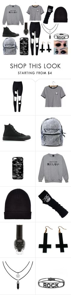 """""""Outfitt 3"""" by chelailaxxsykes on Polyvore featuring moda, WithChic, Converse, Mr. Gugu & Miss Go, New Look, Chicnova Fashion y Spallanzani"""