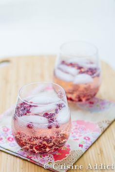 Spritz rosé Pamplemousse & Grenade / Fresh rosé wine cocktail with Pamplemousse & Pomegrenade