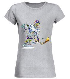Halloween Zombie Hockey Player T-shirt Halo T-shirt
