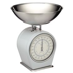 Kitchen Craft Living Nostalgia Mechanical Scales in French Grey   Prezola - The Wedding Gift List