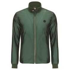 Buy Pretty Green Vick Bomber Jacket, Green Online at johnlewis.com