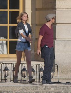 American actor Leonardo DiCaprio with current model girlfriend Toni Garrn...