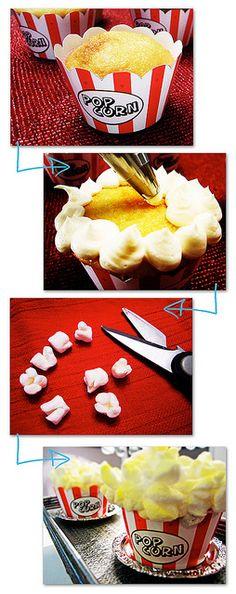 Popcorn Cupcakes by duhlicious-dot-com, via Flickr