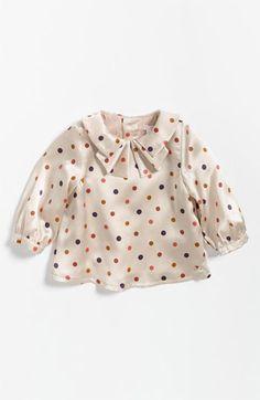 $83.98 on sale   Chloé Polka Dot Blouse (Infant) | Nordstrom
