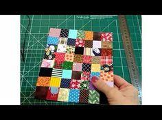 Reaproveitamento de retalhos técnica crazy - Necessaire de retalhos - YouTube