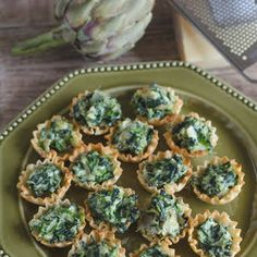 Spinach Artichoke Phyllo Cups Recipe on Yummly Bread Appetizers, Appetizer Dips, Appetizer Recipes, Shower Appetizers, Holiday Appetizers, Baked Spinach Artichoke Dip, Spinach Dip, Chopped Spinach, Philo Cups