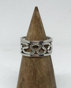 Silver Ring, Abstract Jewelry, Silver Band, Swirl Ring, Minimalist Jewelry, Funky Silver Ring, Unique Ring, One of a kind Jewelry by SterlingbyBranigan on Etsy