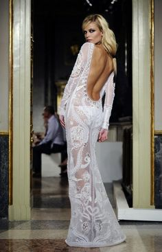 EMILIO PUCCI   SPRING ~ 2012. What an extreme dress.  Pretty and for the immodest, I think.