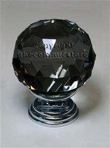 Green Crystal Cut Glass Door Knob 30mm - Choose Your Metal Base ...