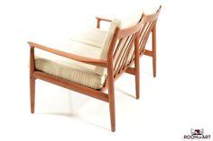 Two Seater Sofa in Teak. Designed Grete Jalk.  Mfr. by Glostrup, Denmark, c. 1960's.