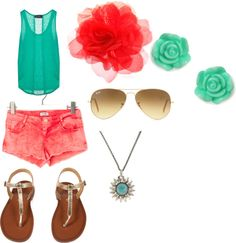 """summer fun"" by lauryskyblue ❤ liked on Polyvore"