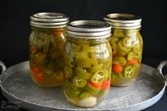 Cucumber Canning, Probiotic Foods, Fermented Foods, Pickling Jalapenos, Tea Time Snacks, Canning Recipes, Preserves, Frozen, Healthy Recipes