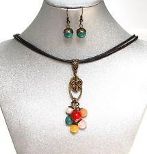 Natural Gemstones Rose Quartz Magnesite Jade Jasper Coral Necklace Earrings USA