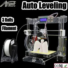 500.00$  Watch now - http://ali8lk.worldwells.pw/go.php?t=32689528447 - Newest Upgrade Auto leveling Prusa i3 3D Printer kit diy Anet A8 3d printer with Aluminum Hotbed 3Roll Filament 8GB card LCD