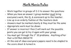 T-cubed: Tumbling Through Teaching: Math Mania - AKA Fun way to use a worksheet when you're low on copies 6th Grade Math Games, Engineering Notes, Agricultural Engineering, Tired Of Trying, Review Games, Getting Bored, Agriculture, A Table, Worksheets