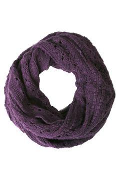 Winter Scarf - Winter Round Knit Scarf 1(Purple)