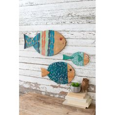 Wood Plainer Woodworking Tools Painted Wooden Fish Wall Hangings Set Of Three.Wood Plainer Woodworking Tools Painted Wooden Fish Wall Hangings Set Of Three Coastal Wall Decor, Nautical Wall Art, Fish Wall Decor, Fish Wall Art, Wall Decor Set, Home Decor Sets, Fish Art, Coastal Cottage, Coastal Lighting