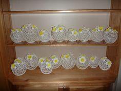 frangipanie & yarn balls wedding centerpiece