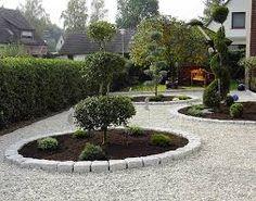 vorgartengestaltung mit kies - 15 vorgarten ideen | garten-ideen, Garten und bauen