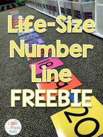 School Is a Happy Place: Free Number Line Activities Your Students Will Love