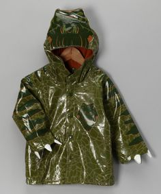 Green Dinosaur Raincoat - Toddler & Kids...Casey would love this!!!
