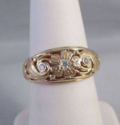 Front/top of ring measures approx. 8.62mm, back band 2.03mm. THIS WAY WE KNOW EVERYONE IS SATISFIED WITH THE SALE. Ring size 6. and be sure to add us to yourfavorites list ! In very good pre-owned condition. | eBay!  $545