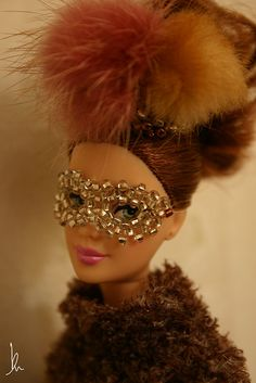 Barbie beaded head dress and eye mask | Flickr -