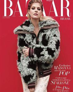 @lalatrussardirudge nossa poderosa cover girl de junho/julho posou para Ace Amir (@spadestudios) em Nova York. Moda com memória afetiva e clima de férias dão o tom da edição dupla que traz com exclusividade @madonna antes da fama. E ainda vem com a @bazaarkids. Imperdível!  via HARPER'S BAZAAR BRAZIL MAGAZINE OFFICIAL INSTAGRAM - Fashion Campaigns  Haute Couture  Advertising  Editorial Photography  Magazine Cover Designs  Supermodels  Runway Models