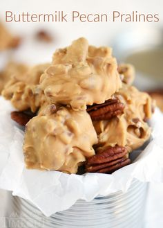 I love surprising friends and family with homemade candy during the holidays and these Buttermilk Pecan Pralines is one of my favorites!