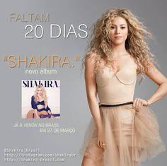Faltam só 20 dias para o lançamento do novo álbum #shakira! #shakiracountdown