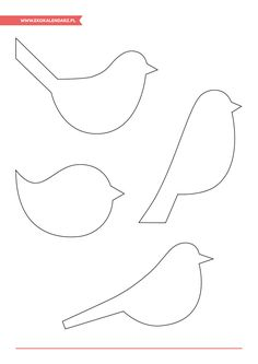 Diy Arts And Crafts, Crafts To Do, Felt Crafts, Fabric Crafts, Crafts For Kids, Paper Birds, Fabric Birds, Bird Template, Pottery Animals