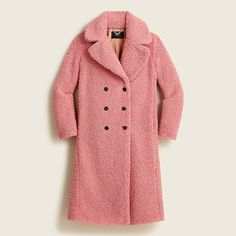J.Crew - Double-breasted teddy sherpa topcoat